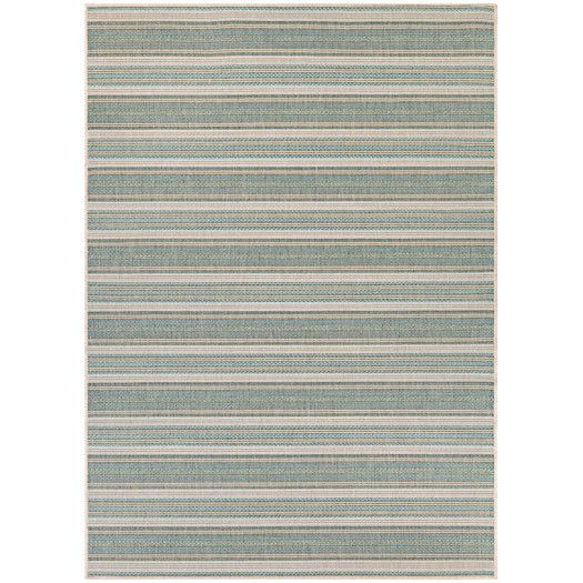 Found it at AllModern - Monaco Marbella Blue Mist and Ivory Indoor/Outdoor Area Rug