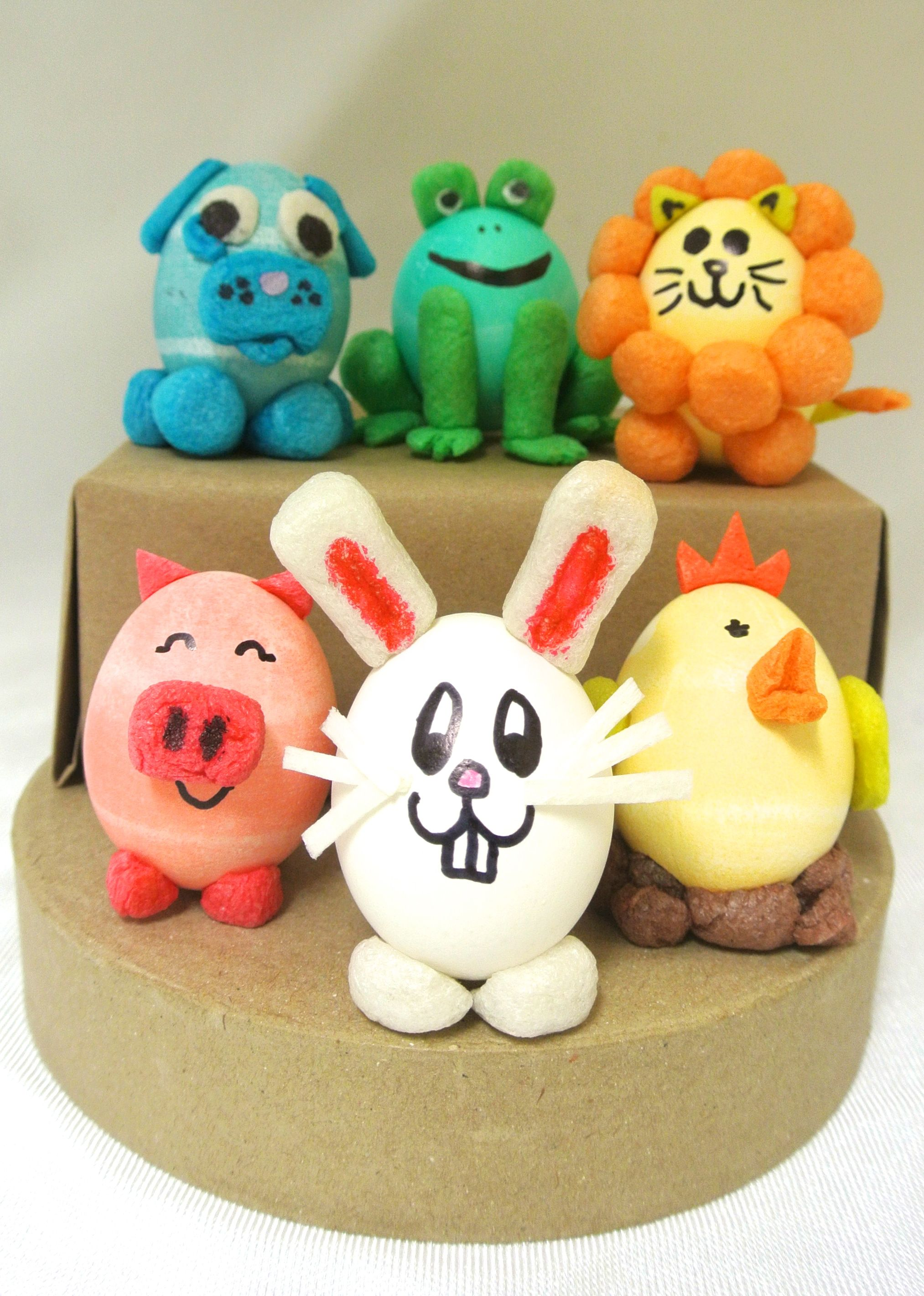 Hard Boiled Egg Animals Decorated With Magic Nuudles Animal Art