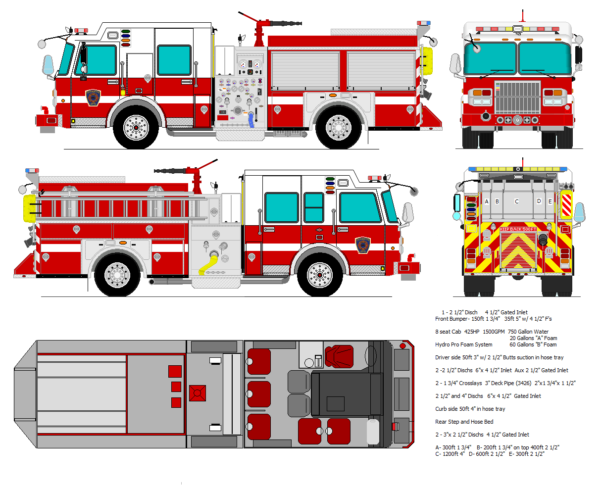 Online coloring fire truck - Fire Truck Drawing Google Search