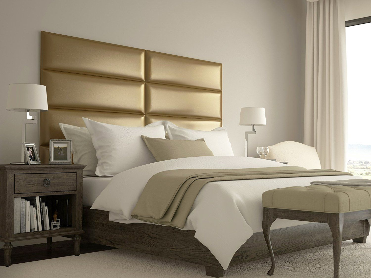 From Simple Classic Styles To Elegant Metal Gold Headboard Create Your Dream Bedroom Set Up With Luxurious Bedrooms Upholstered Wall Panels Upholstered Walls