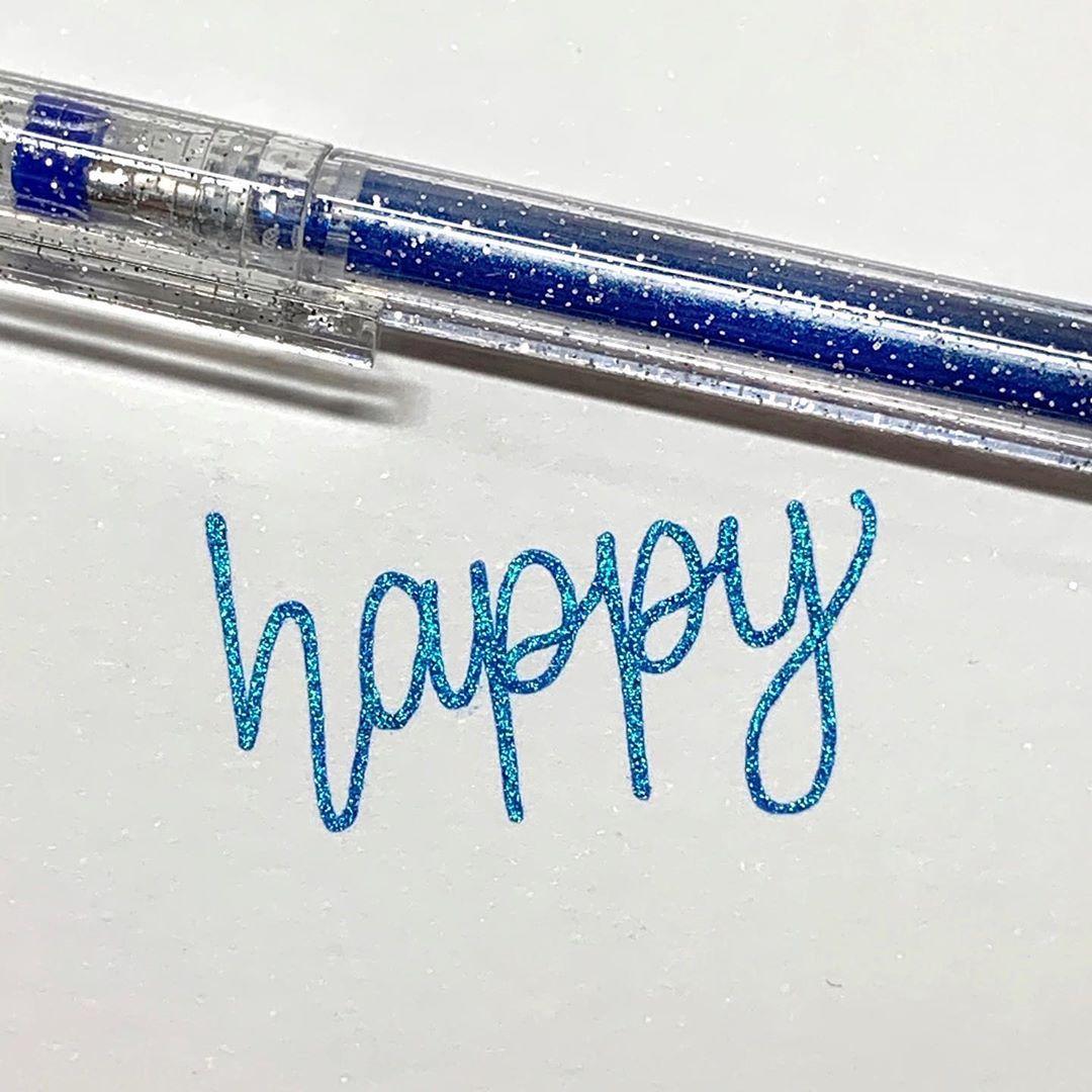 Bold Line Glitter Pen