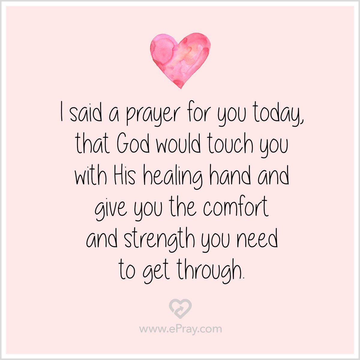 healing prayer for a