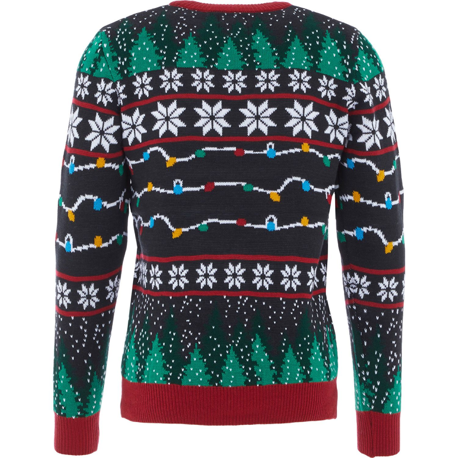 Black Light Up Christmas Jumper Men S Christmas Jumpers