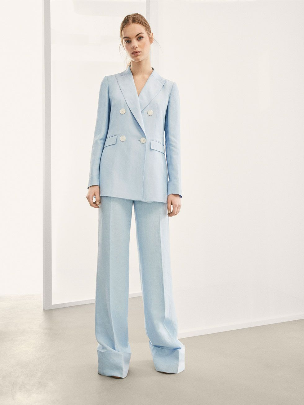 cc793e9ee0f LIMITED EDITION DOUBLE BREASTED LINEN SUIT BLAZER - Women - Massimo Dutti