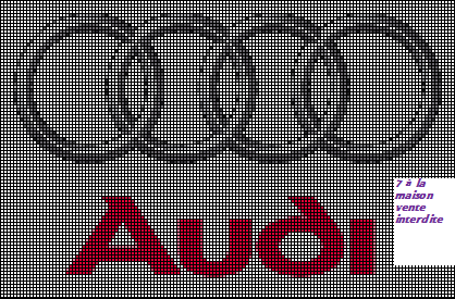 Logo Audi En Grille Gratuite Melting Beads Cross Stitch