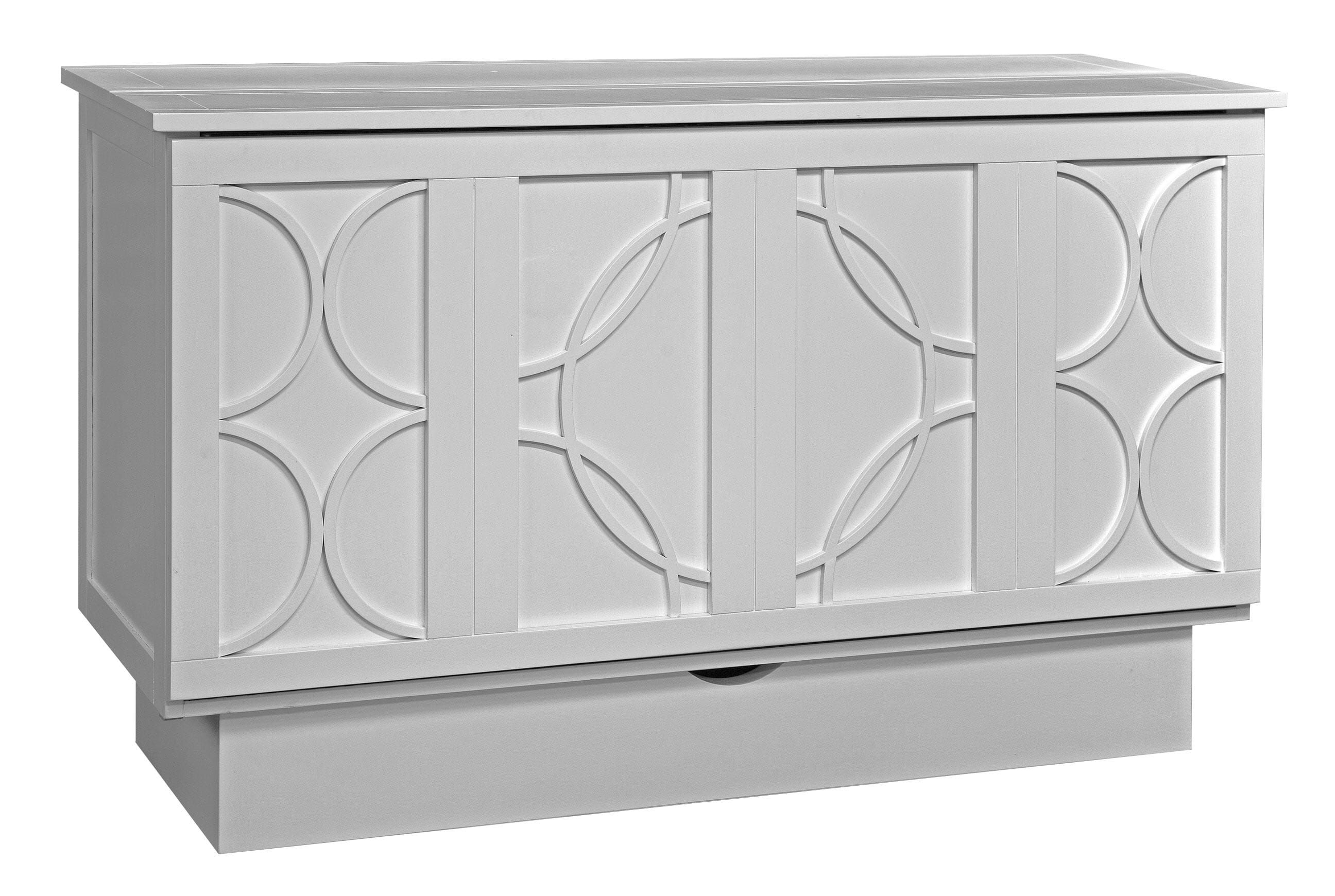 Brussels Queen Murphy Bed White by Arason