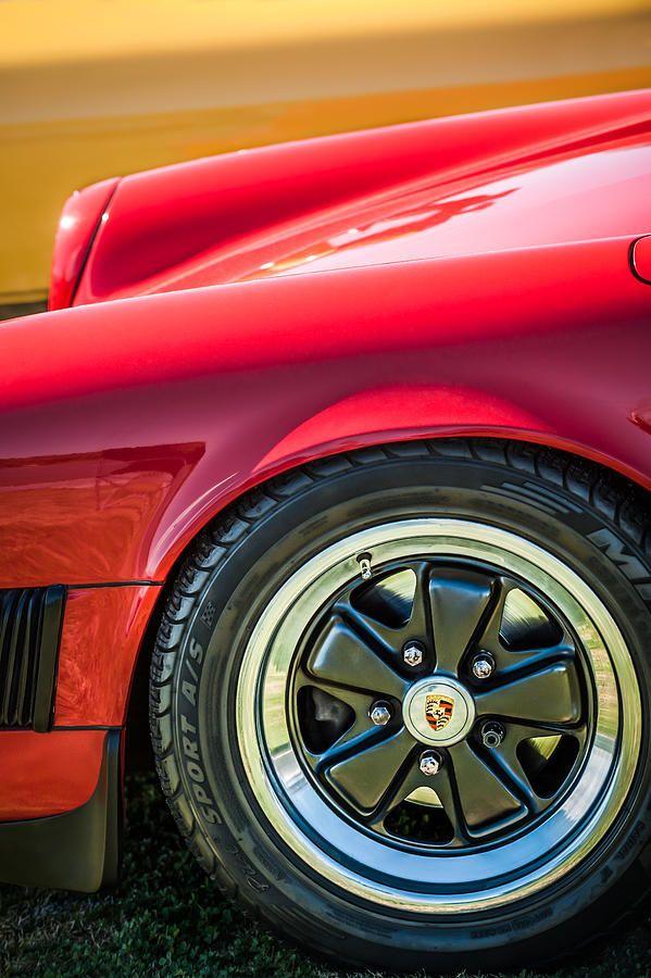 1984 Porsche 911 Carrera Wheel Emblem -2270bw by Jill Reger