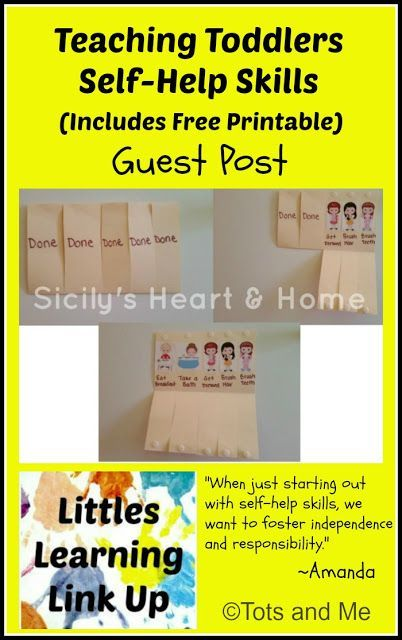 Growing Up Together Littles Learning Link Guest Post Teaching Toddlers Self Help Skills Includes Free Printable