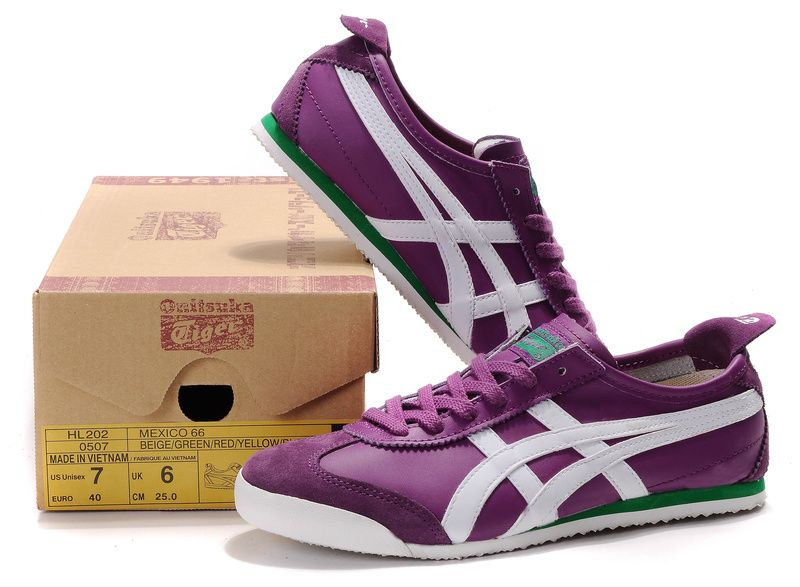 asics tiger purple