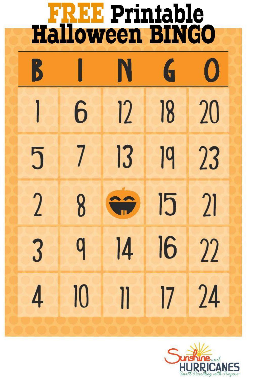 Free Halloween Printables Bingo Halloween bingo cards