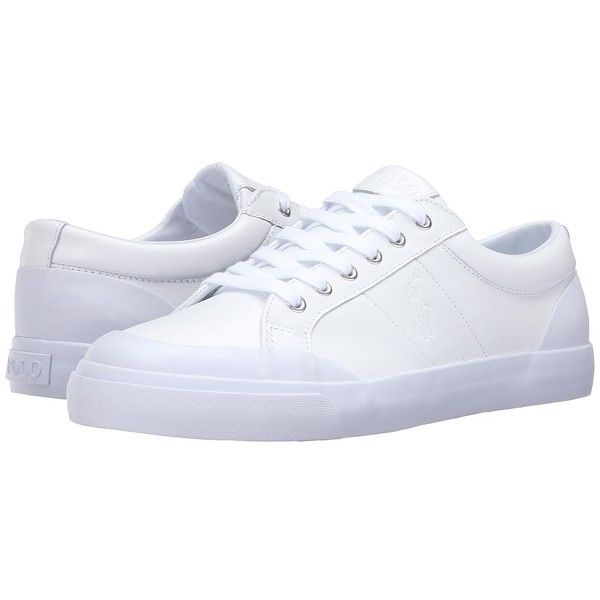 Many Colors Mens Casual Shoes - Polo Ralph Lauren Ian White Smooth Sport Leather