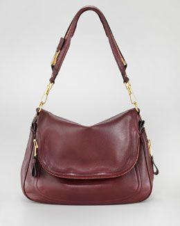 Tom Ford Large Jennifer Flap Top Bag Oxblood Por Handbagsguess