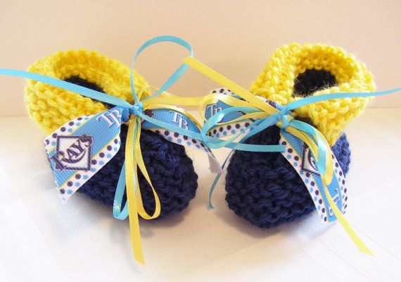 Tampa Bay RAYS Baseball Fans Handmade Baby Booties by ZZsTeamTime