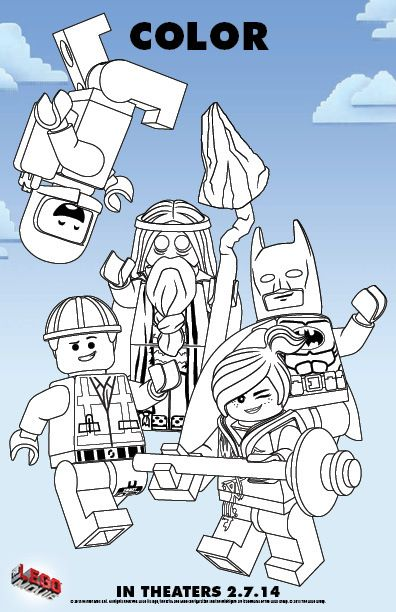 color in the legor movie free printable coloring pages - Lego Movie Free Coloring Pages 2
