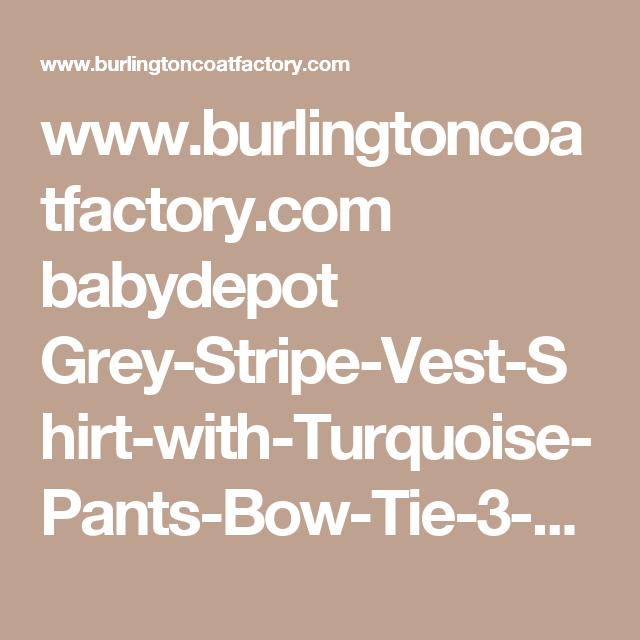 Www Burlingtoncoatfactory Com Babydepot Grey Stripe Vest Shirt