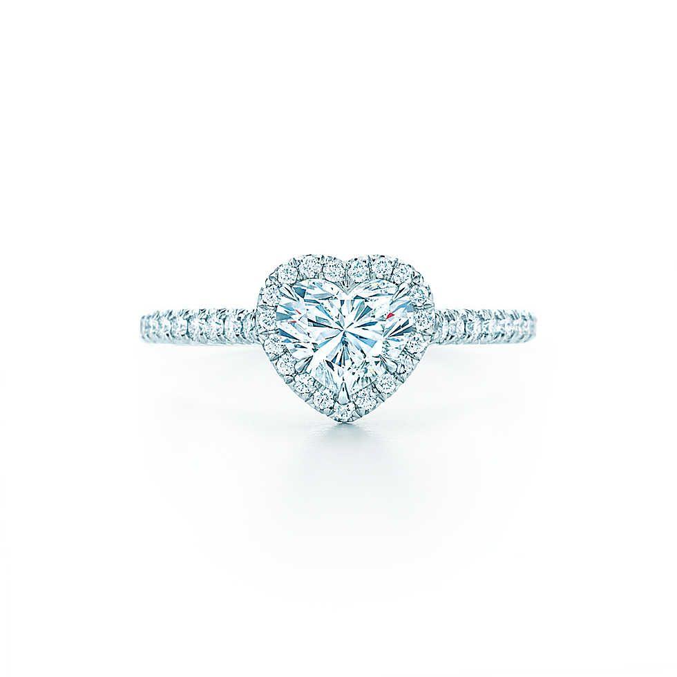 Tiffany Soleste® Heart Heart Shaped Engagement Ringsgold