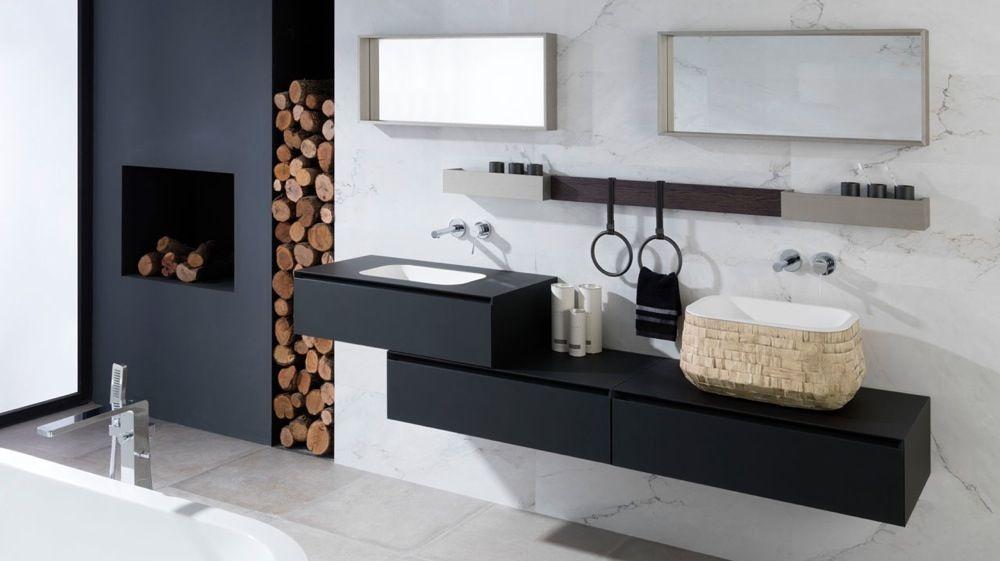 Des Idées Déco Pour Une Salle De Bains En Noir Et Blanc Déco - Idee deco salle de bain