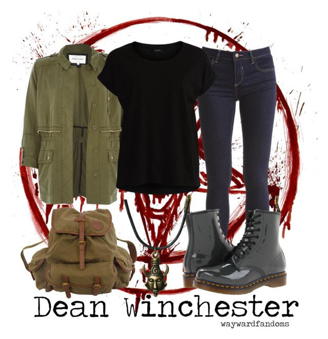 """Dean Winchester"" by waywardfandoms ❤ liked on Polyvore featuring moda, River Island, VILA, Dr. Martens, Billabong, women's clothing, women, female, woman e misses"