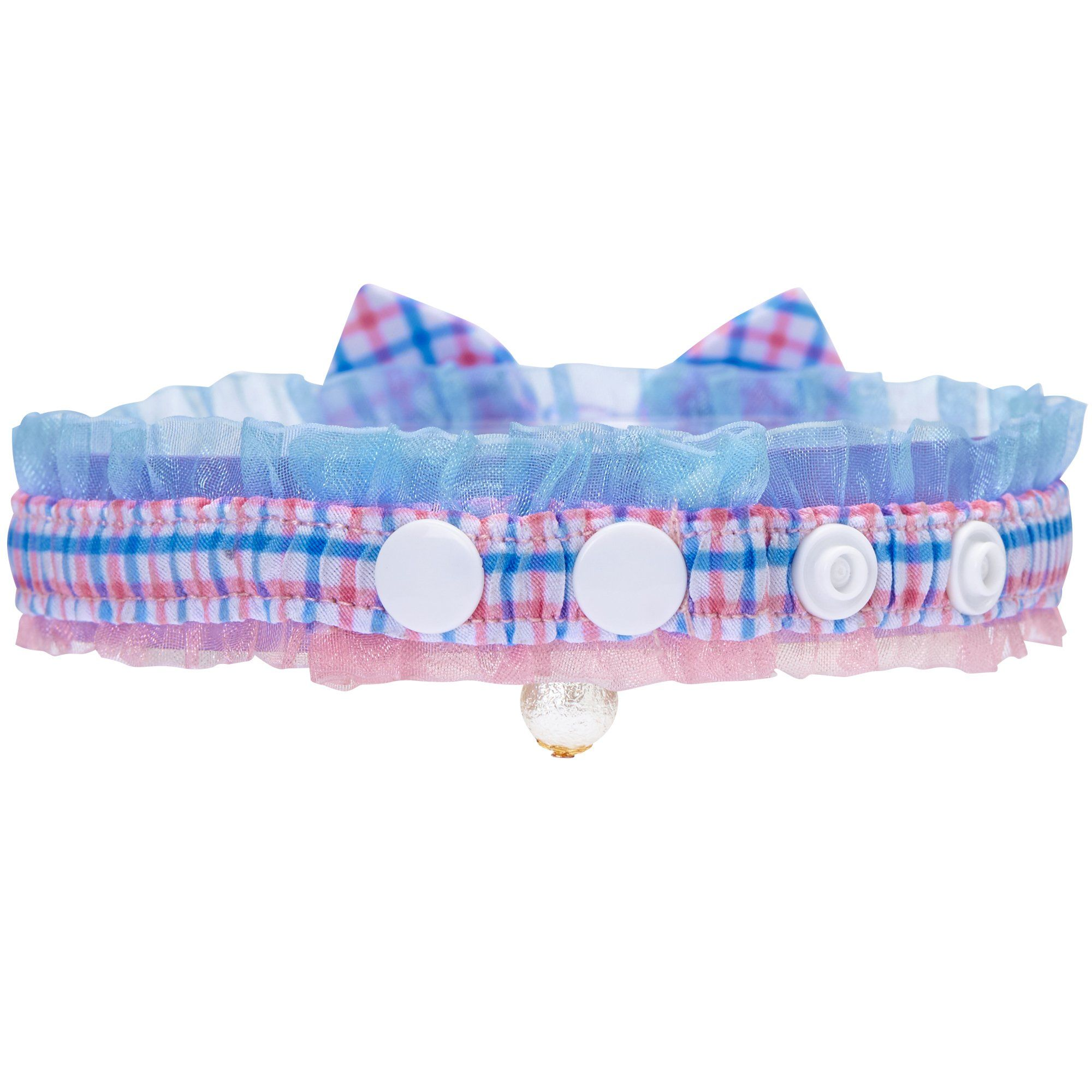 Blueberry Pet 18 Designs Blue Plaid Breakaway Bowtie Cat Collar Lace Choker Necklace With Handmade Bow Tie Cat Collars Breakaway Cat Collars Cat Bowtie Collar