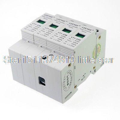 $22.65 (Buy here: https://alitems.com/g/1e8d114494ebda23ff8b16525dc3e8/?i=5&ulp=https%3A%2F%2Fwww.aliexpress.com%2Fitem%2F4P-20-40KA-Din-Rail-Mount-SPD-Circuit-Lightning-Protection-Device-Arrester-2-0KV%2F32539156166.html ) 4P 20-40KA Din Rail Mount SPD Circuit Lightning Protection Device Arrester 2.0KV for just $22.65