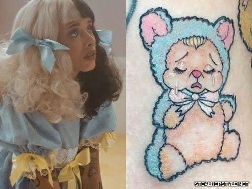 Melanie Martinez Bear Costume Tattoo Melanie Martinez Teddy Bear Tattoos Melanie