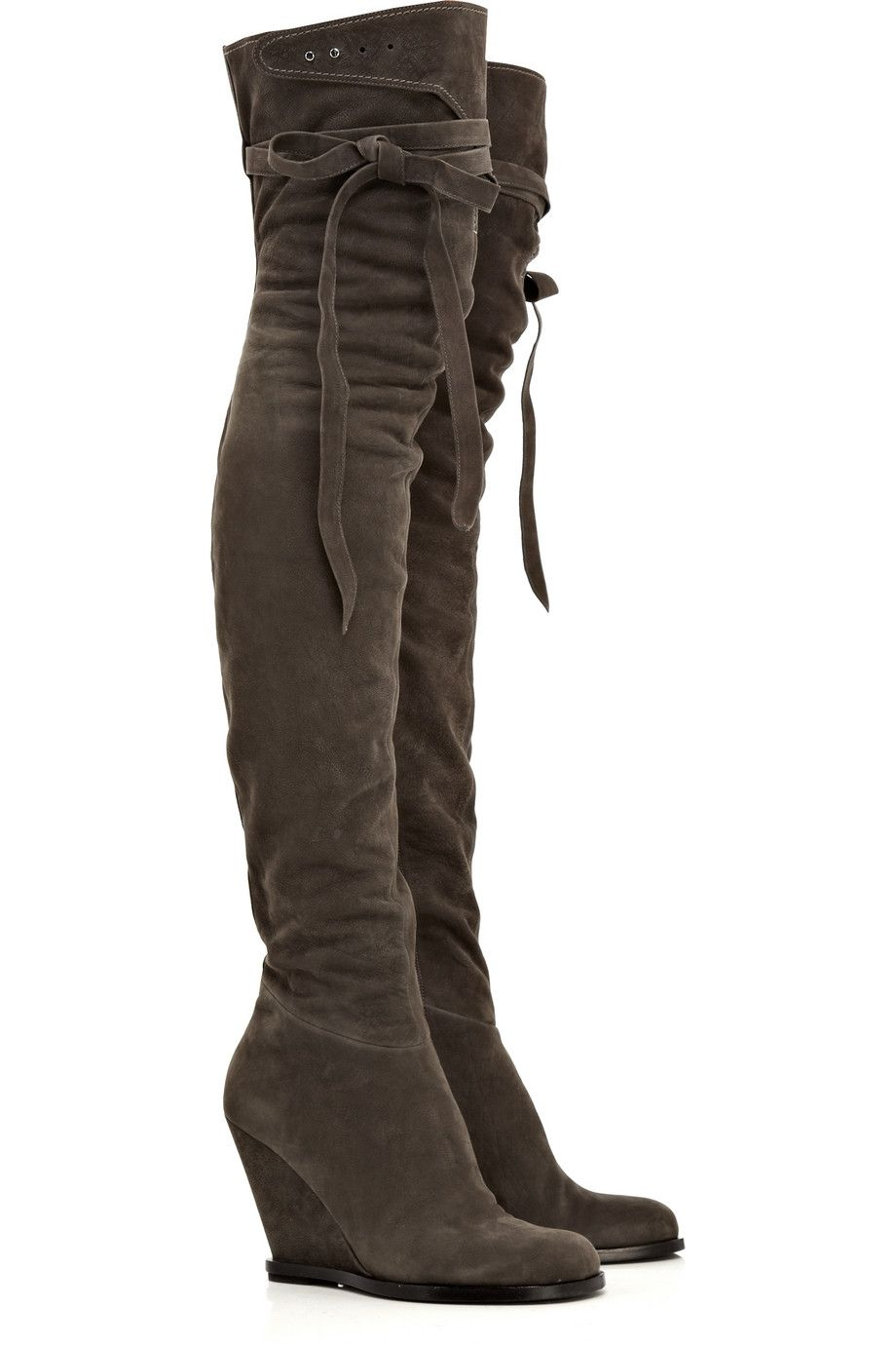 Sexy wedge boots! Nubuck wedge thigh boots by Camilla Skovgaard ... d1ac9d68ade