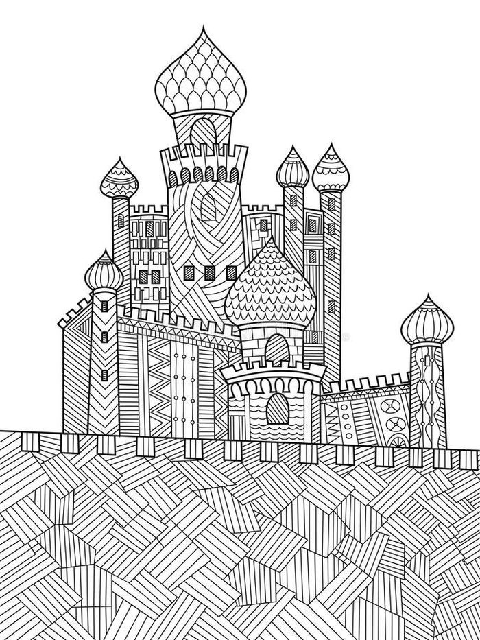 Castle Coloring Pages Printable in 2020 | Castle coloring ...