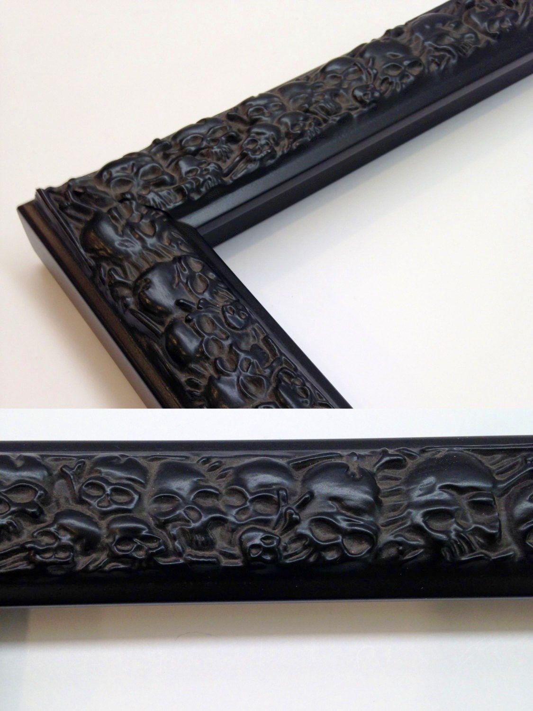 SKULL Picture Frame, Skull Black, 3x5, 4x6, 5x7, 8x10, 11x14, 16x20 ...