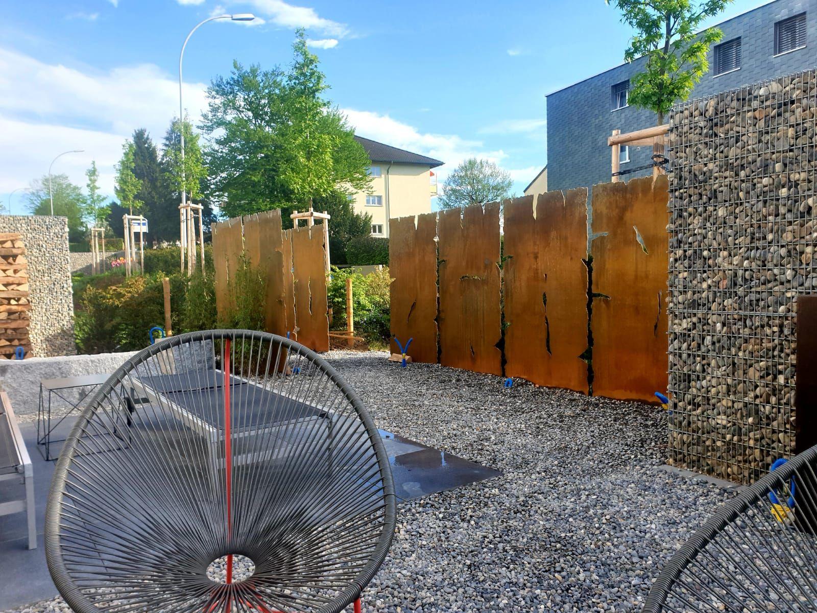 Sichtschutz Cortenstahl In 2020 Sichtschutzwand Garten Sichtschutz Garten Vorgarten