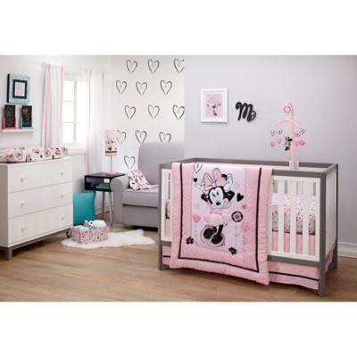 Disney Minnie Mouse Crib /& Nursery Set Baby Girl/'s Bedroom