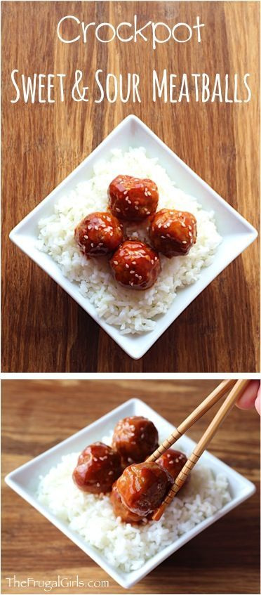 Crock Pot Sweet And Sour Meatballs Recipe From Thefrugalgirls Com