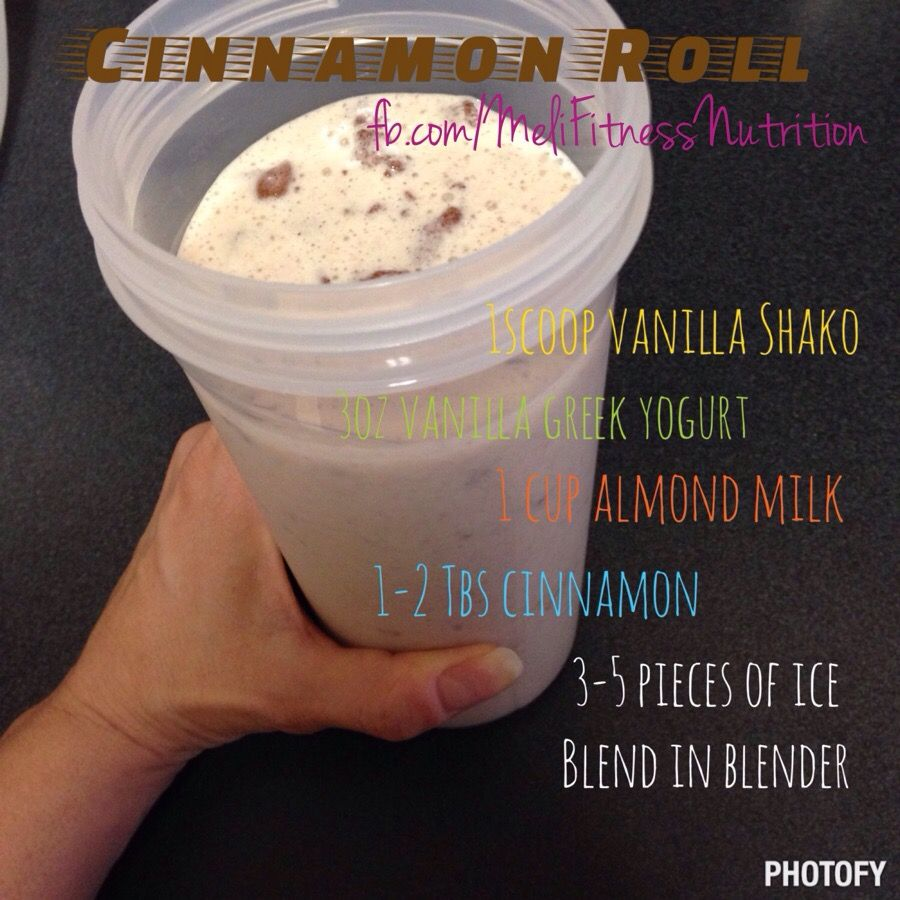 Cinnamon Roll Shakeology recipe. You can have the great taste of a cinnamon roll without the guilt!
