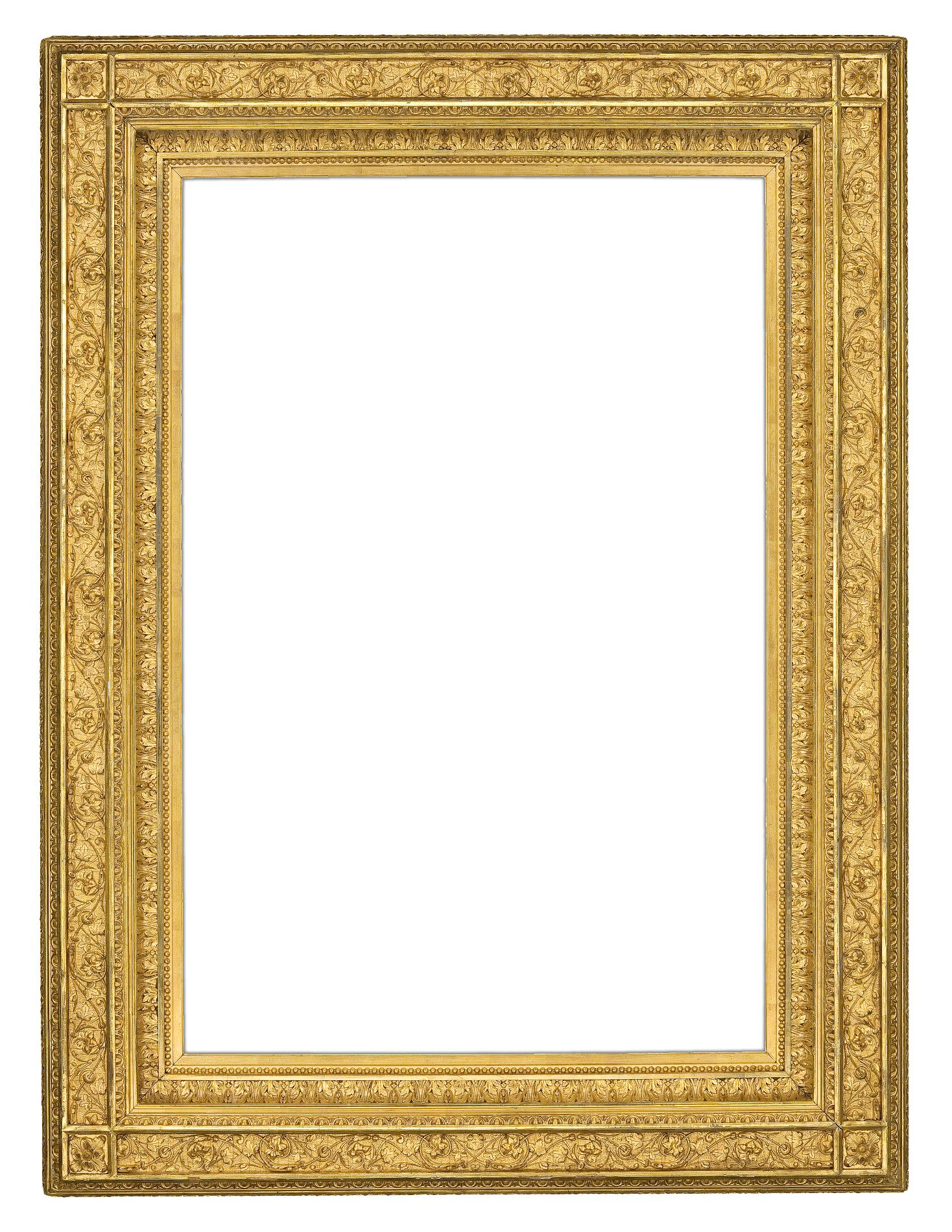 From the Lowy frame collection: American gilt composition frame (ca ...