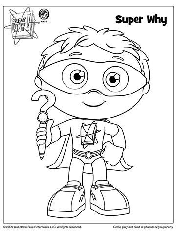 SUPER WHY Coloring Book Pages | Costumes and Birthdays