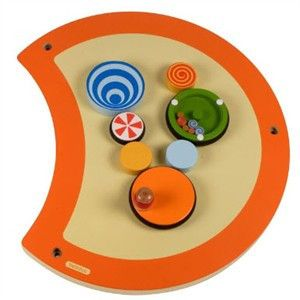 Hape Kids Wilbur Wall Panel Wooden Bead Maze Wire Waiting Room Office Toy Game