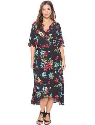 cd8db457206f Circle Sleeve Wrap Dress | Women's Plus Size Dresses | Passion 4 ...