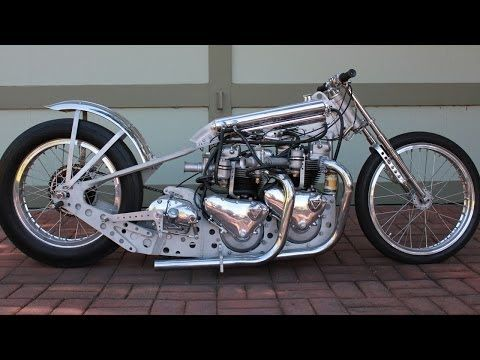 Twin Engine Motorcycle Dragster Stage Fright Triumph Bonneville Tiger T110 T120 - YouTube