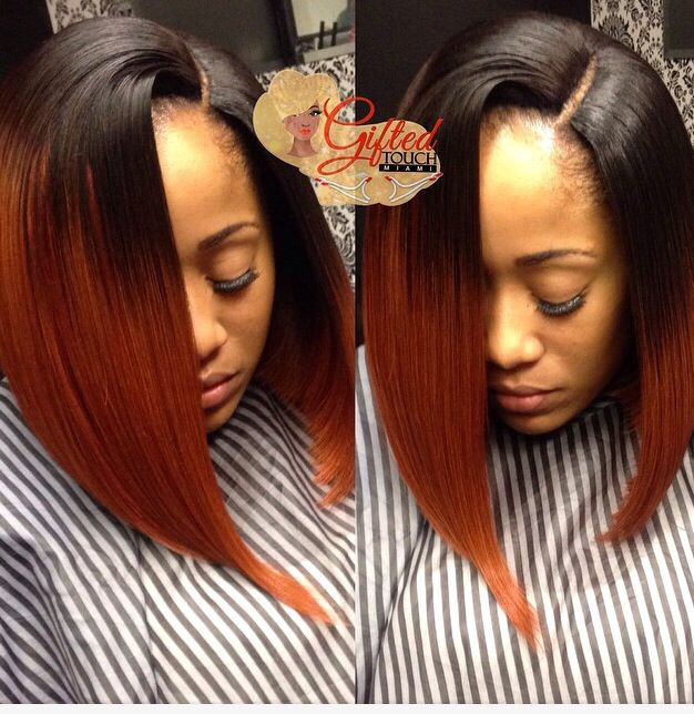 Ombre Remy Hair T1bburgundy Straight Illusions Miami And Ombre