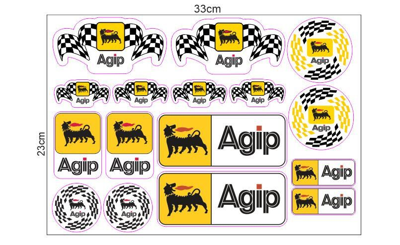1 Set JDM Agip Sticker Aufkleber Autocollants Pegatinas Digital Print The Doctor Bike Yamaha Racing Moto