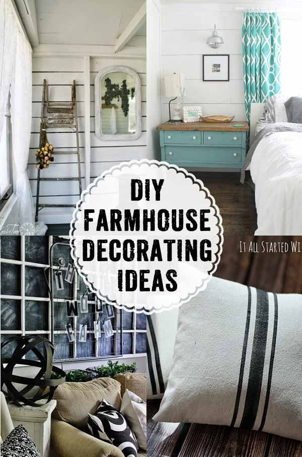 How to's : Such great ideas for farmhouse decorating!