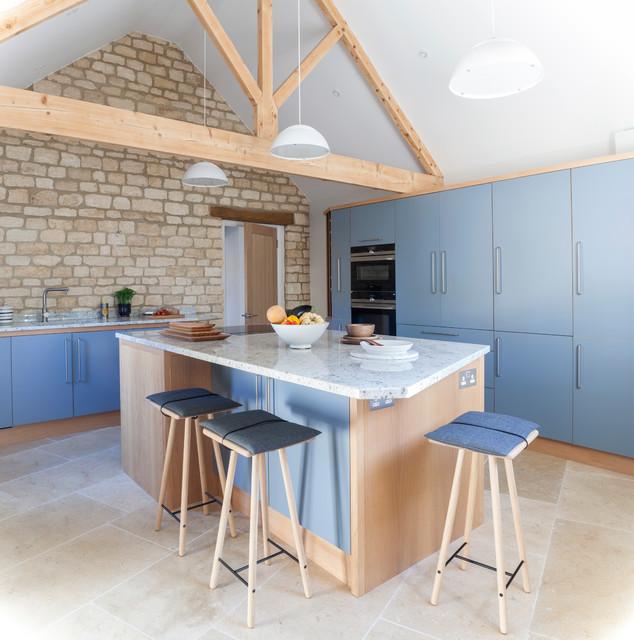 Kitchen in a Barn Conversion Gets a ScandinavianStyle
