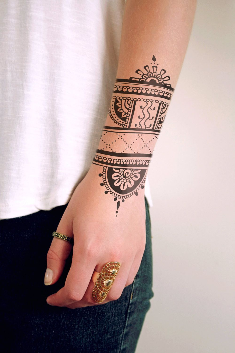 Temporary Tattoo Ink Like Henna: Henna Inspired Temporary Tattoo