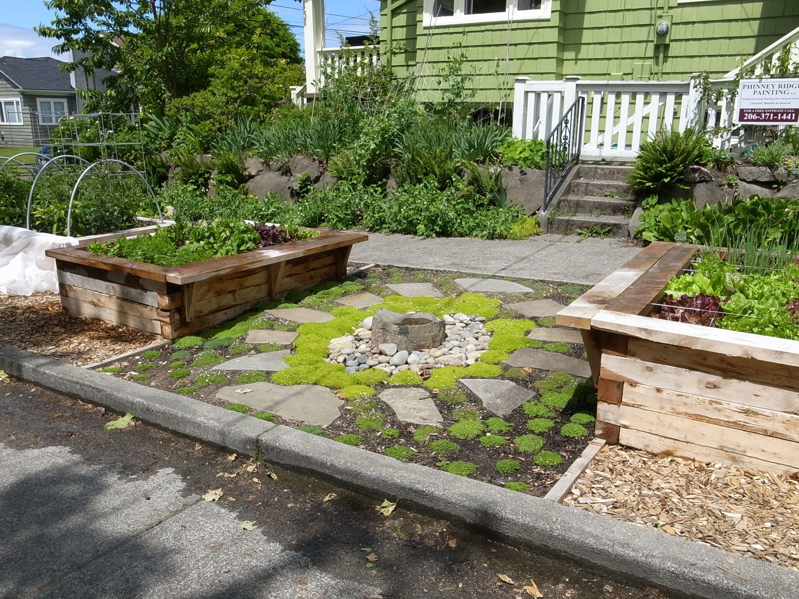 Summer Growing Raised Vegetable Beds Front Yard Garden Design