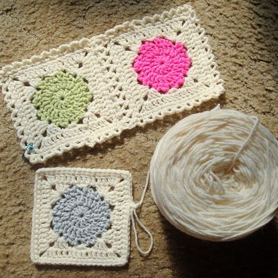 Instructions To Make These Darling Squares Crochet Dlys Hooks And