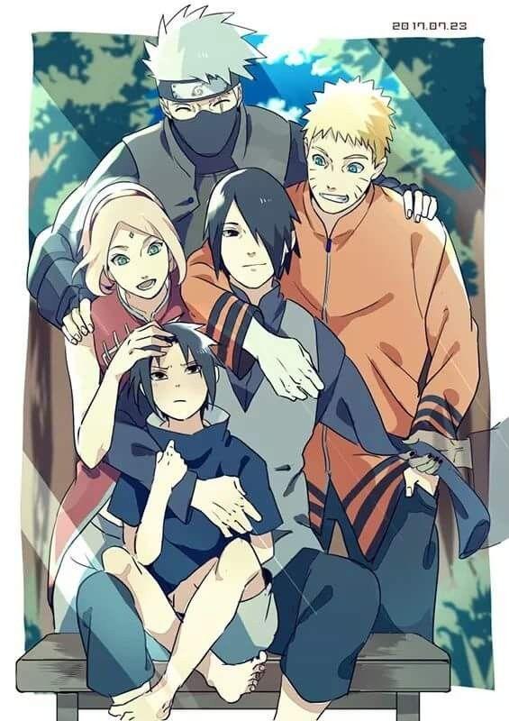 Team 7 Naruto Kakashi Sakura And Sasuke Sakura