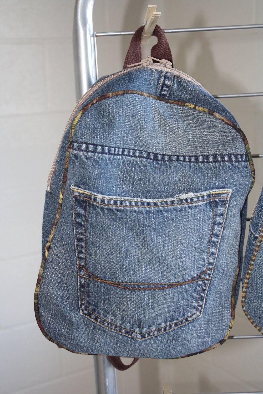 Как сшить рюкзак из старых джинс (с изображениями ...