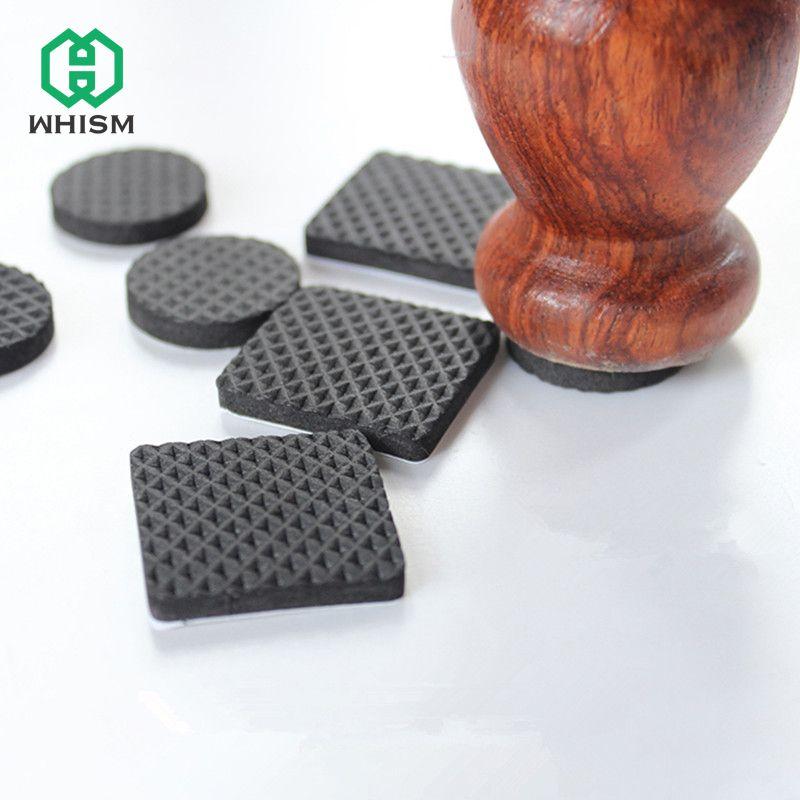 Whism Schwarze Selbstklebende Stuhlbein, Furniture Floor Pads