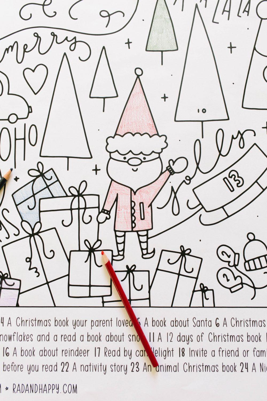 The Rad Reader Christmas Reading Advent Calendar Christmas Tree Advent Calendar Advent Coloring Calendar Advent Calendars For Kids [ 1500 x 1000 Pixel ]