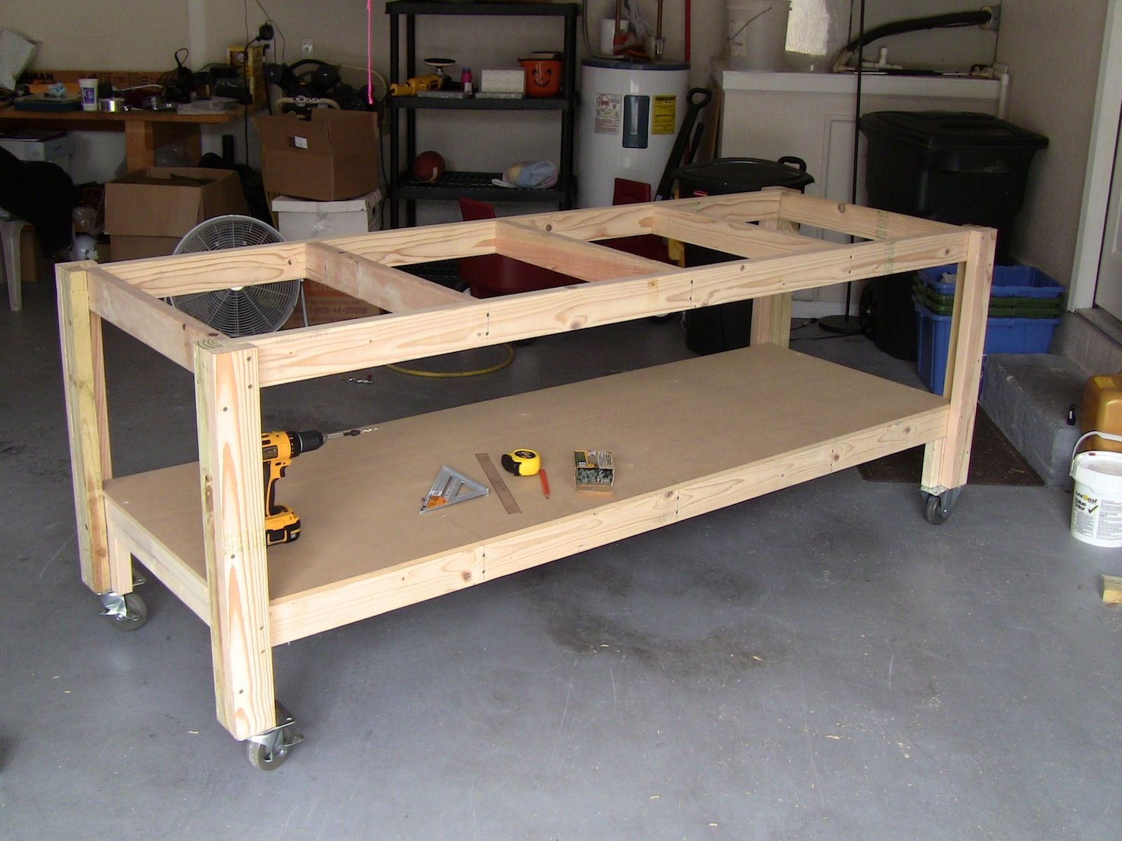 I like the Casters on this one Mobile is good – Garage Work Bench Plans