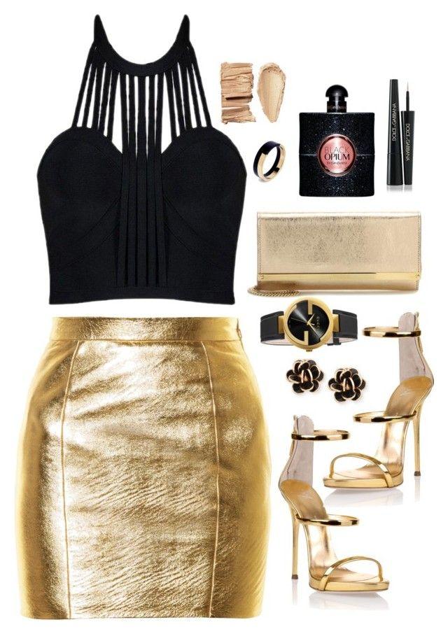 """girls night!"" by fashionfreakout18 ❤ liked on Polyvore featuring Yves Saint Laurent, Giuseppe Zanotti, Chantecler, Jimmy Choo, Gucci, Marni and Dolce&Gabbana"